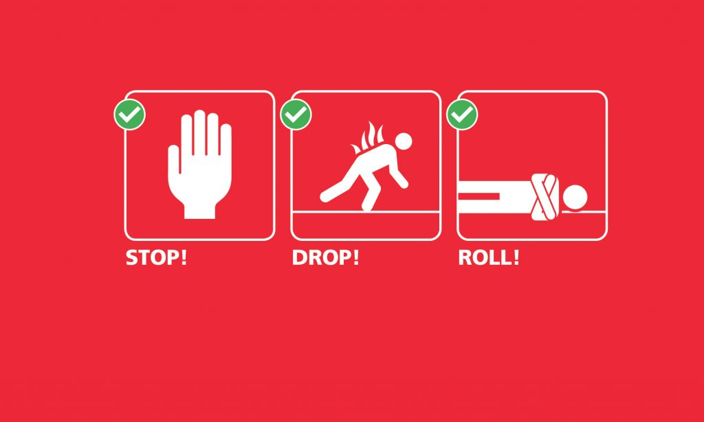 stop-drop-roll-What-To-Do In-Event-Fire
