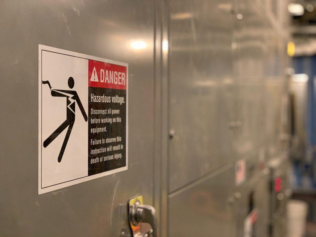 Low Voltage Panel Rescue sign